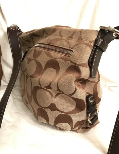 Coach Purse Handbag Shoulder Hobo Signature/Logo Cross Body Bag Image 1