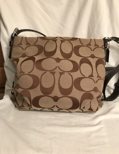 Coach Purse Handbag Shoulder Hobo Signature/Logo Cross Body Bag Image 3