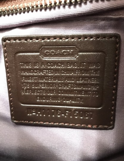 Coach Purse Handbag Shoulder Hobo Signature/Logo Cross Body Bag Image 5