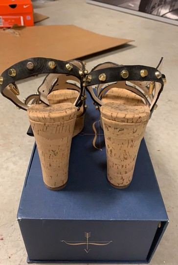 MICHAEL Michael Kors black and gold straps Wedges Image 3