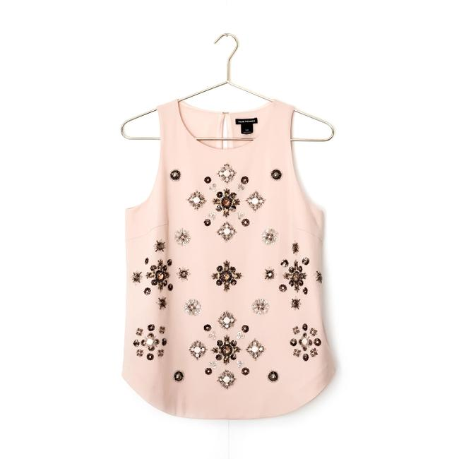 Club Monaco Embellished Beaded Floral Sleeveless Sequin Top pink Image 0