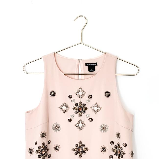 Club Monaco Embellished Beaded Floral Sleeveless Sequin Top pink Image 2