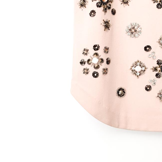 Club Monaco Embellished Beaded Floral Sleeveless Sequin Top pink Image 4