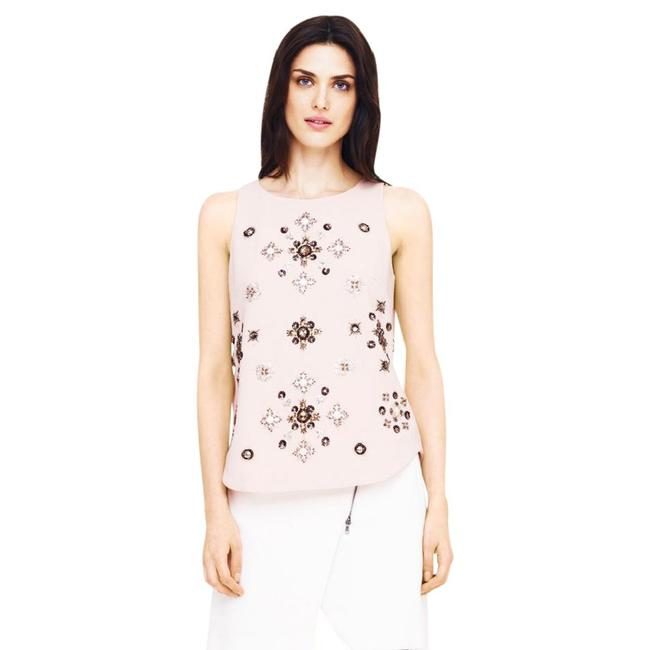 Club Monaco Embellished Beaded Floral Sleeveless Sequin Top pink Image 7