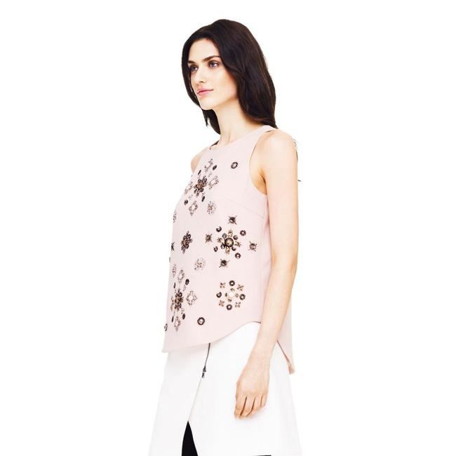 Club Monaco Embellished Beaded Floral Sleeveless Sequin Top pink Image 8