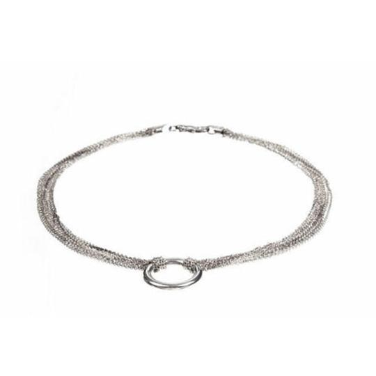 sterling silver Large Jump Ring Pendant Necklace Image 1