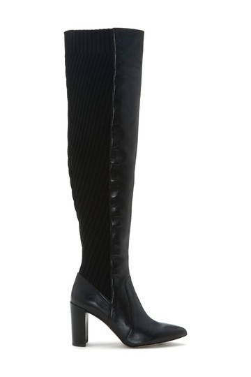 Preload https://img-static.tradesy.com/item/25897422/vince-camuto-black-majestie-over-the-knee-leather-knit-b10-bootsbooties-size-us-55-regular-m-b-0-0-540-540.jpg