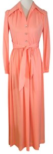 peach Maxi Dress by Vintage Ayers Unlimited