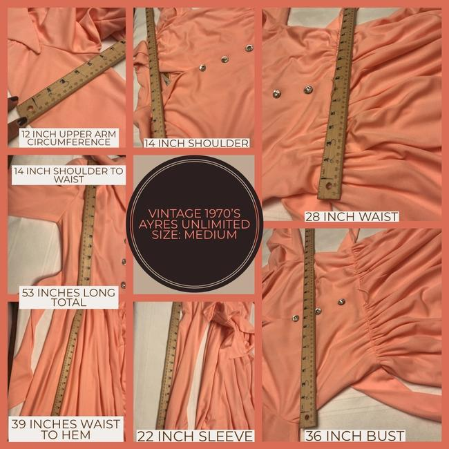 peach Maxi Dress by Vintage Ayers Unlimited Image 10