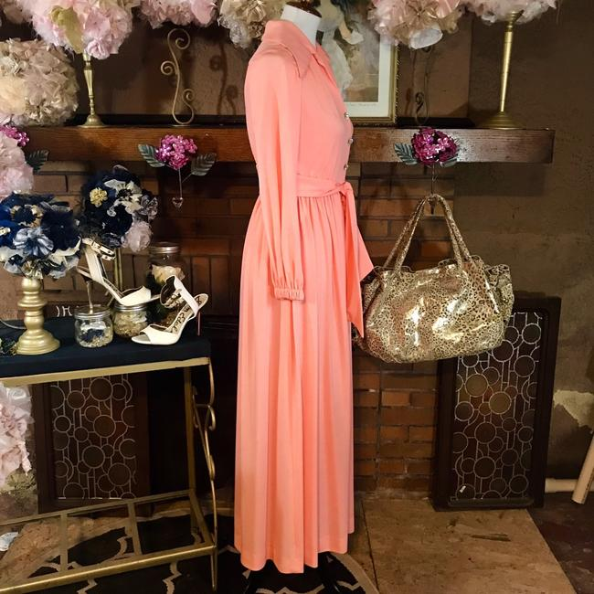 peach Maxi Dress by Vintage Ayers Unlimited Image 2