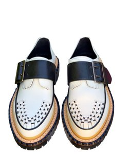 Burberry Leather white and black Flats