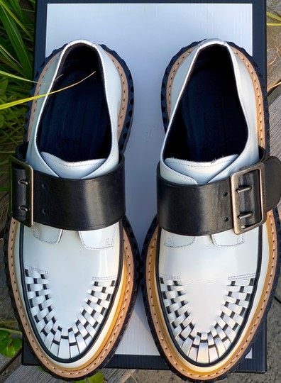 Burberry Leather white and black Flats Image 4