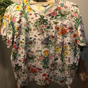 Gucci T Shirt Floral Pattern