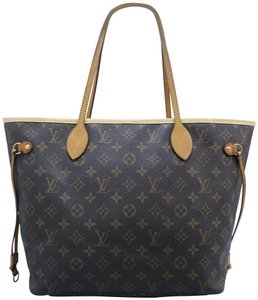 Louis Vuitton Lv Neverfull Mm Monogram Canvas Shoulder Bag
