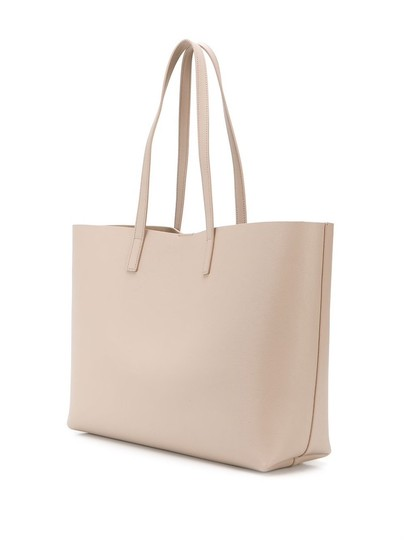 Saint Laurent Leather Tote in Marble Pink Image 3