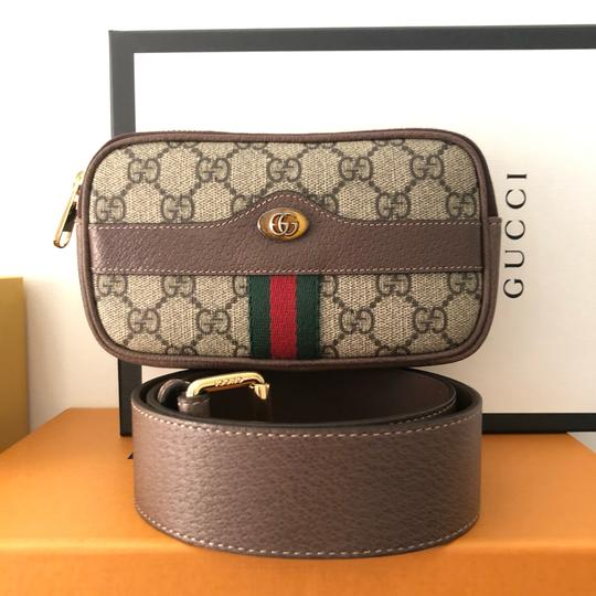 Gucci Canvas Gold Hardware Belted Cross Body Bag Image 5