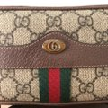 Gucci Canvas Gold Hardware Belted Cross Body Bag Image 6