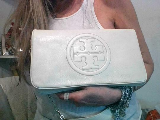 Tory Burch Off White Clutch Image 1