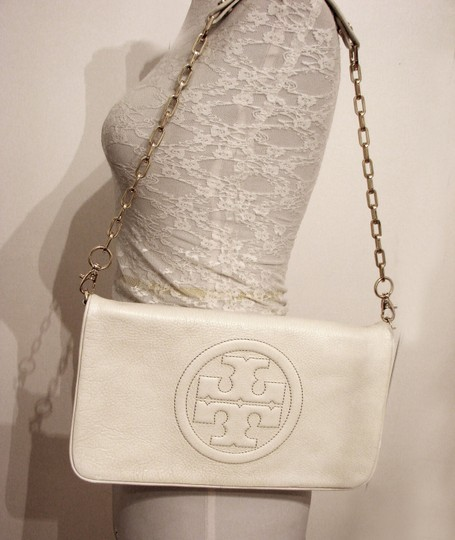 Tory Burch Off White Clutch Image 3