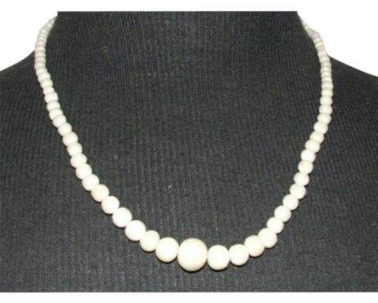Preload https://img-static.tradesy.com/item/25897517/white-lovely-graduated-smooth-angelskin-coral-beaded-necklace-0-1-540-540.jpg