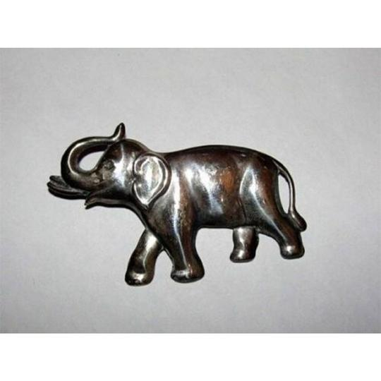 Sterling Silver Lucky Sterling Silver Elephant Pin Image 1