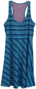 TEHAMA short dress Multi-Color Fit & Flare Contrast Print Striped Scoop Neck Racerback on Tradesy