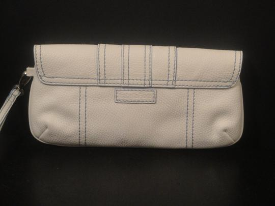 Isabella Fiore Wristlet Stitching Buckle white Clutch Image 1