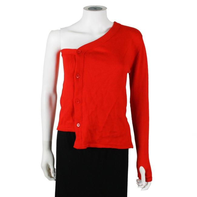 Preload https://img-static.tradesy.com/item/25897595/-one-sleeve-us-2-fr-34-red-sweater-0-0-650-650.jpg