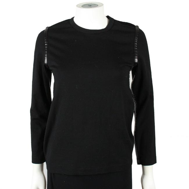 Preload https://img-static.tradesy.com/item/25897619/comme-des-garcons-leather-us-small-black-sweater-0-0-650-650.jpg