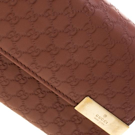 Gucci Pink Cinnamon Microguccissima Leather Wallet On Chain Image 5