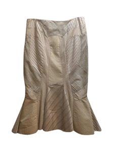 Alexander McQueen Skirt creme with Black and Tan stripes, red black checks. pleated near hips. gorgeous!!