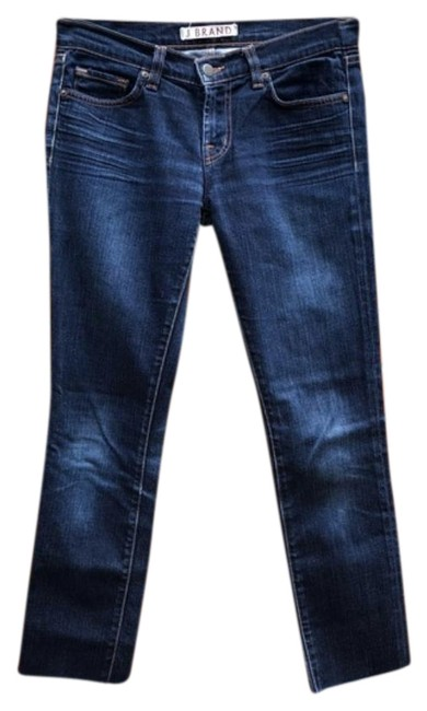 Preload https://img-static.tradesy.com/item/25897633/j-brand-blue-dark-rinse-pencil-stretch-skinny-jeans-size-27-4-s-0-1-650-650.jpg