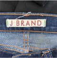 J Brand Raw Hem Stretch Dark Denim Skinny Jeans-Dark Rinse Image 4