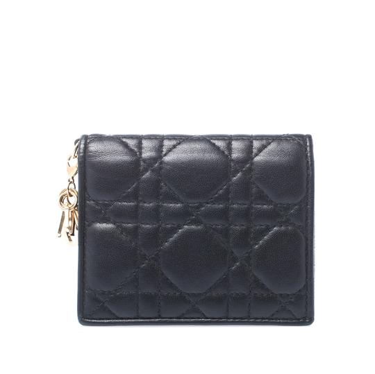 Preload https://img-static.tradesy.com/item/25897653/dior-black-lady-cannage-leather-flap-card-holder-wallet-0-0-540-540.jpg