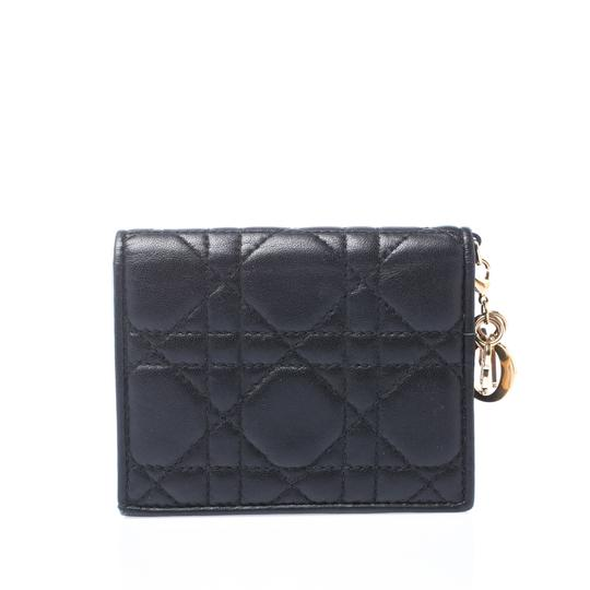 Dior Black Cannage Leather Lady Dior Flap Card Holder Image 1