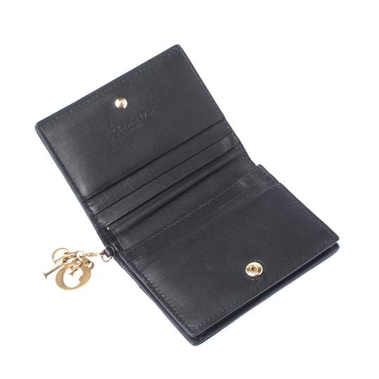 Dior Black Cannage Leather Lady Dior Flap Card Holder Image 2