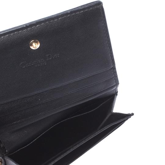 Dior Black Cannage Leather Lady Dior Flap Card Holder Image 4