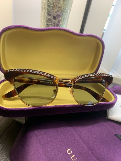 Gucci Authentic Gucci 41mm cat eyes crystals Acetate Sunglasses Image 1