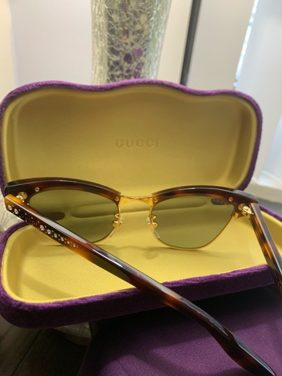 Gucci Authentic Gucci 41mm cat eyes crystals Acetate Sunglasses Image 10