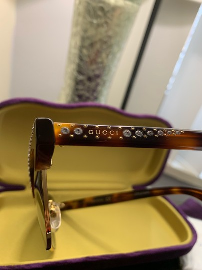 Gucci Authentic Gucci 41mm cat eyes crystals Acetate Sunglasses Image 2