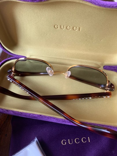 Gucci Authentic Gucci 41mm cat eyes crystals Acetate Sunglasses Image 4