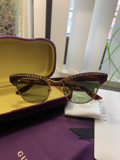 Gucci Authentic Gucci 41mm cat eyes crystals Acetate Sunglasses Image 8