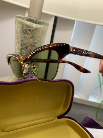 Gucci Authentic Gucci 41mm cat eyes crystals Acetate Sunglasses Image 9