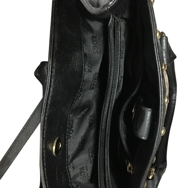 Item - Body/Handle Too Black and Gold Leather Cross Body Bag