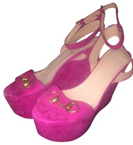 Gucci fuchsia pink Wedges