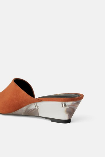Zara Leather Methacrylate Transparent Wedges Image 1