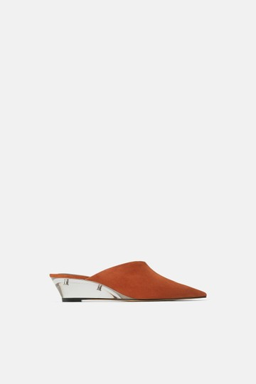 Zara Leather Methacrylate Transparent Wedges Image 2