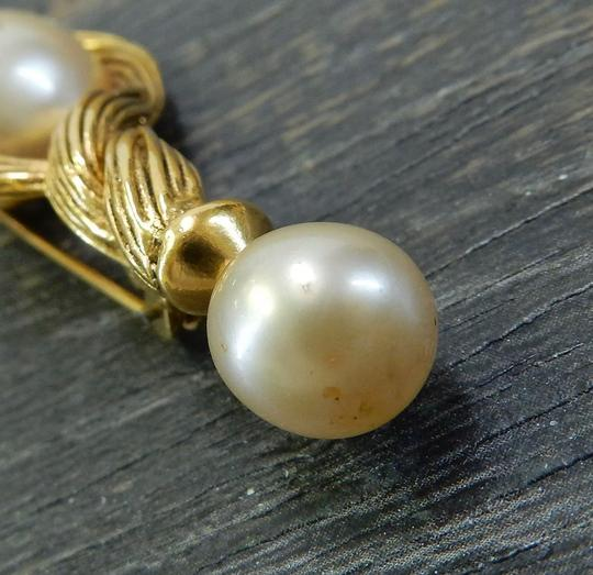 Chanel Chanel vintage cc logo gold plated pearl pin brooch Image 4