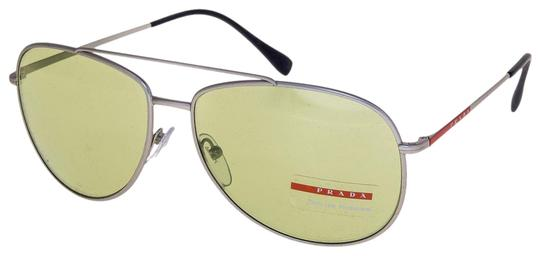Preload https://img-static.tradesy.com/item/25897741/prada-silver-green-linea-rossa-lifestyle-sport-55u-aviator-ps55us-sunglasses-0-1-540-540.jpg