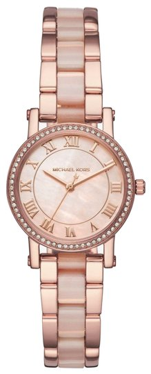 Preload https://img-static.tradesy.com/item/25897752/michael-kors-rose-gold-women-s-petite-norie-pave-gold-tone-mk3699-watch-0-1-540-540.jpg